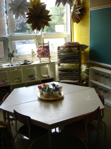 Our classroom Art Studio - the hub of our classroom.