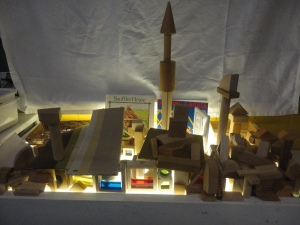 A collaborative structure at the light table.