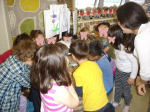You can see how excited the children are to catch a glimpse of our first butterfly!