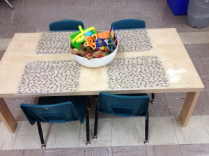 Playdough centre/multi-use table.